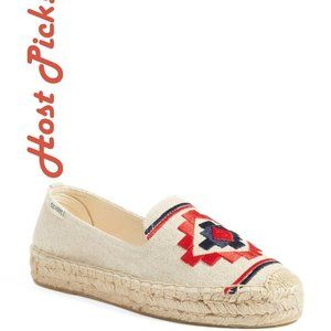 HP** Soludos New Embroidered Espadrilles Slip-On